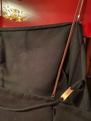 GIANNI VERSACE BLACK DRESS COPPER CHAIN STRAPS VINTAGE SIZE EU 38/ US 4