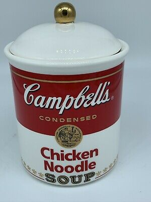 Cambells Chicken Noodle Soup Cookie Jar Canister Collectors Item 1999