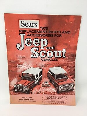 1976 Sears Jeep and Scout Replacement Parts Accessories Catalog Vintage