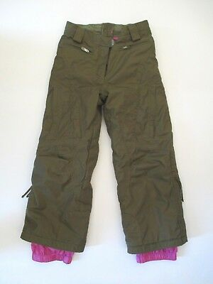 Junior Snowboard Clothing - OBERMEYER ALT3 Girls Juniors Green Military Winter Snowboard Ski Malibu Pants 8