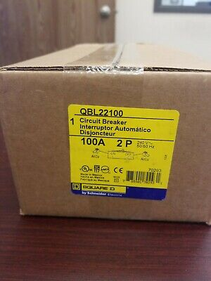 Brand New In Box Square D Qbl22100 Circuit Breaker. 6 Available