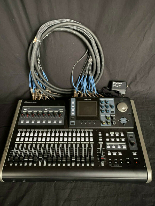 TASCAM DP-24SD 24 Track Digital Portastudio Multi-Track 8 Channel Snake Bundle