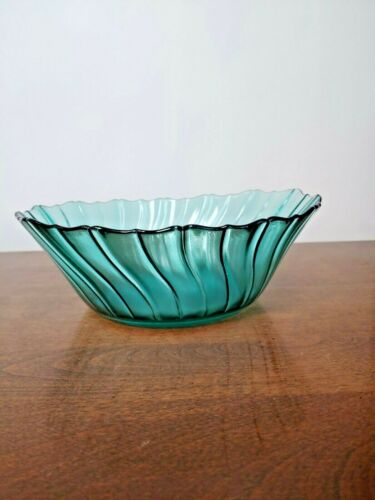 JEANNETTE PETAL SWIRL ULTRAMARINE SALAD BOWL - BEAUTIFUL-1937-1938