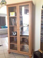 Elegant display glass door cabinet/ bookshelf Rochedale Brisbane South East Preview