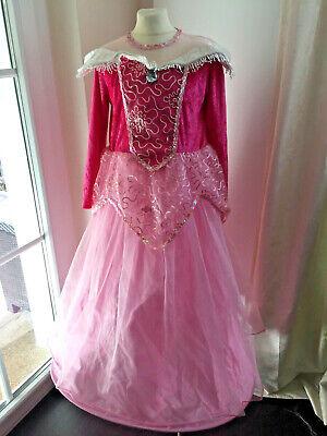 Prinzessin Kostüm 140 Kleid Rosa Faschingskostüm Mädchen Hofdame Glitzer Tüll