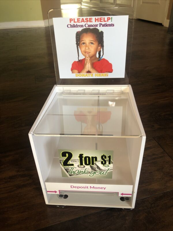 8 New Childrens Cancer Charity Honor Candy Box  Vending Route Business Locking