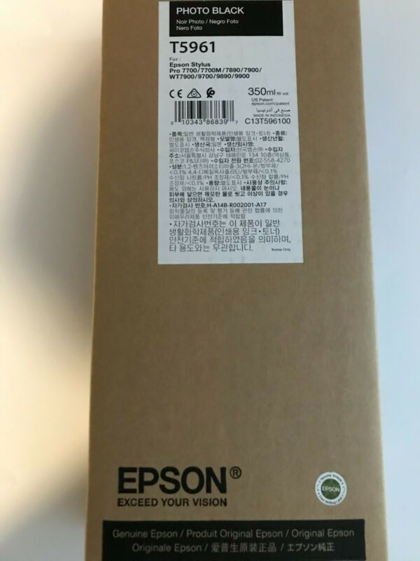 EPSON T5961 PHOTO BLACK 7890/9890 7900/9900 USED BEFORE 10/21