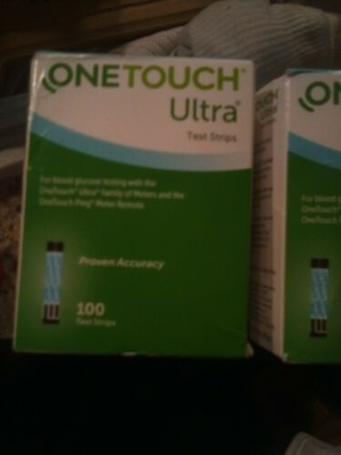 100ct One Touch ULTRA BLUE TEST STRIPS Ex 2022 Retail Good Boxes - $39.00