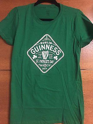 New  Guinness Beer T Shirt   2017 St  Patricks Day  Womens Crewneck