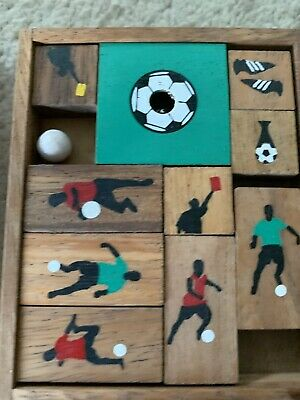 Siam Mandalay Wooden Soccer Game Puzzle Excellent Used