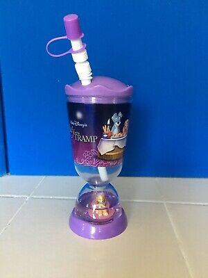 Disney Store Lady And The Tramp Snow Globe Tumbler Cup New