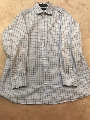 Burberry London Mens L Plaid Long Sleeve Button Down Shirt w/ Front Pocket