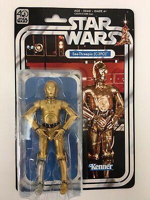 "Star Wars 40th Anniversary Wave 2 Black Series 6"" Action Figure C-3PO"