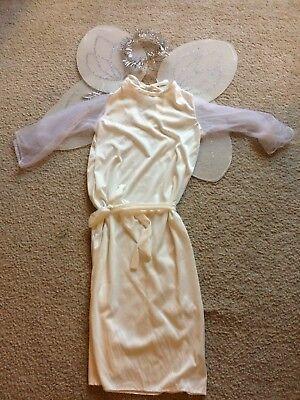 Angel Holloween Costume Girls Medium White Excellent - Girl Holloween Costumes