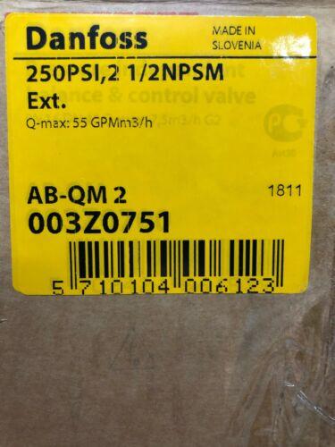 Danfoss Pressure Independent Balance & Control Valve AB-QM 2 003Z0751