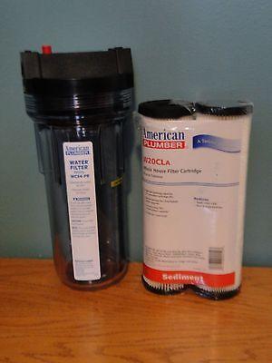 """WATER FILTER 3/4"""" AMERICAN PLUMBER WC34-PR +  20 MICRON CART"""