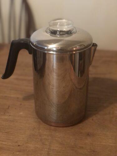 REVERE WARE  Coffee Pot 8 Cup Percolator  Pre 68 Excellent R