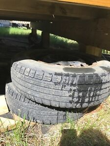 155/80r13 tires for sale with rims, 2 of them $80 obo