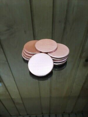 Aluminum Disk Circle Blanks 1-12 Diameter 18 Thick 10 Pieces Disc Discs