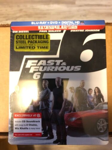 Fast and Furious 6 Blu-Ray + DVD Steelbook Target Exclusive - Brand New Sealed