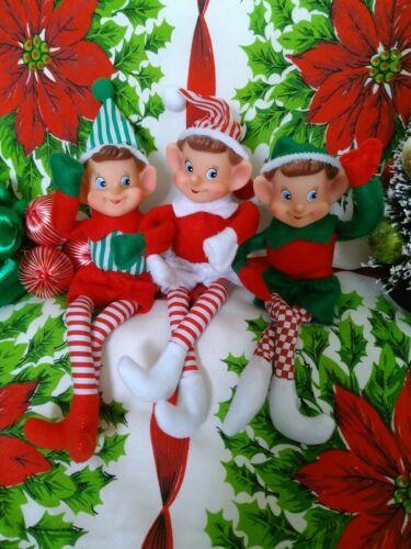 5 Vintage Inspired Christmas Elves Pixie