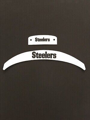 Pittsburgh Steelers Front And Rear Helmet 3D Bumpers For Full Size Riddell Speed](Steelers New Helmet)