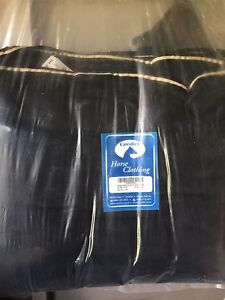 Horse saddle pad, 2 cool down blankets and saddle bags. New.