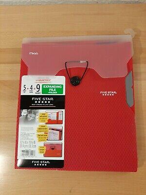 1 Five Star 9-pocket Expanding File Plastic Expandable Folder 12 38 X 10 38