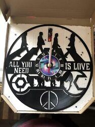 The Beatles Vinyl Record Wall Clock Decor Handmade