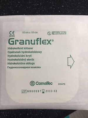 Granuflex  10x10 Hydrocolloid Dressing exuding wounds, ulcers, burn wounds ()
