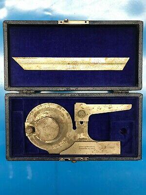 Brown Sharpe 599-496-6 Bevel Protractor Wcase Vintage