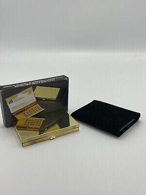Vintage Pocket Calculator With Business Card Holder Case Color Gold