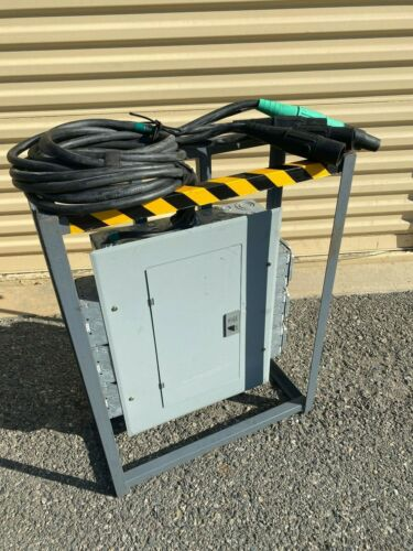 USED GOOD 60 amp 3 PHASE POWER DISTRO (ONE) with Cam Lok and turnarounds