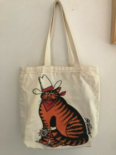 Vintage B Kliban Cowboy Cat Tote Bag