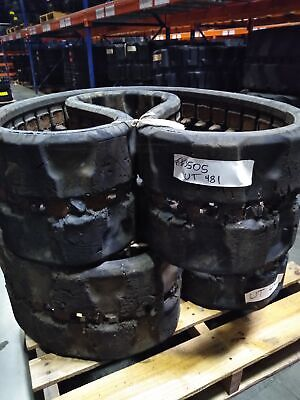 Set Of Summit Used 13 Rubber Tracks - Fits Gehl Mustang Takeuchi - 320x86x52