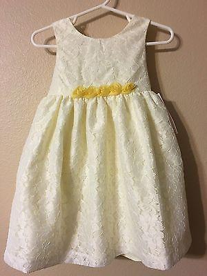 2t Flower Girl Dress (Marmellata Lace-Overlay Spring Easter Flower Girl Wedding dress Size 4t 3t)