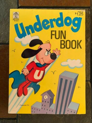 1971 UNDERDOG FUN BOOK/COLORING BOOK  ITEM #4077-30