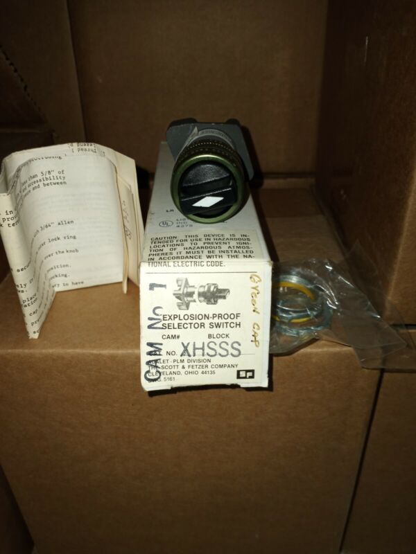 ADALET-PLM XHSSS EXPLOSION PROOF SELECTOR SWITCH - NOS - FREE SHIPPING