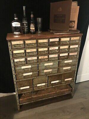 Vintage Industrial Engineers Cabinet