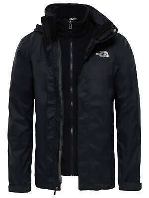 THE NORTH FACE MENS EVOLVE II TRICLIMATE® JACKET 3-in-1 Waterproof, Black, Small