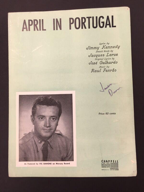 April in Portugal Sheet Music 1953 Vic Damone Raul Ferrao Jimmy Kennedy