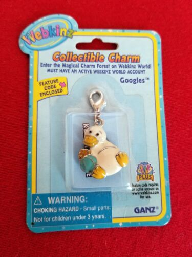 Webkinz Collectible Charm BRAND NEW WITH CODE Googles Platypus Feature Code