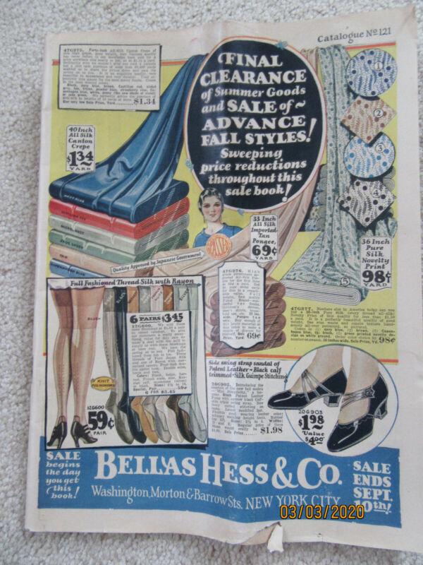 Vintage Bellas Hess & Co, New York City Catalog (1925)