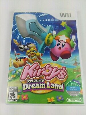 Kirby's Return to Dream Land (Nintendo Wii) No Manual Tested
