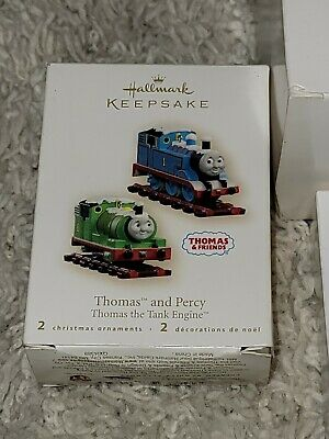 Thomas & Percy Thomas the Tank Engine Set of 2 Hallmark Ornaments in Box