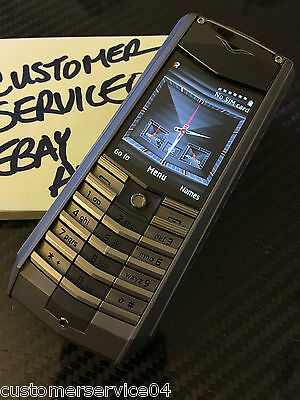 Genuine Vertu Ascent X Full Titanium Black Leather Luxury Phone Extremely Rare