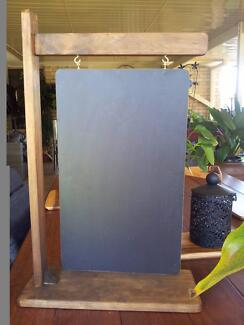 Hanging Sign Style Chalkboard and Timber Stand Restaurant Menus C
