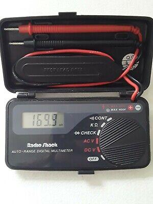 Working Radio Shack 22-179a Auto-range Pocket Lcd Digital Multimeter
