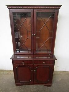 D7062 Glass Timber Bookcase Cabinet Dresser Mount Barker Mount Barker Area Preview