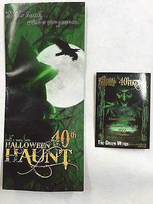 KNOTTS BERRY SCARY FARM HALLOWEEN HAUNT GREEN WITCH CARD + BROCHURE 40th ANNUAL (Halloween Haunt Green Witch)